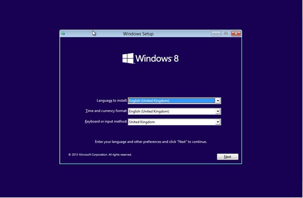 Install windows 8 or 8.1