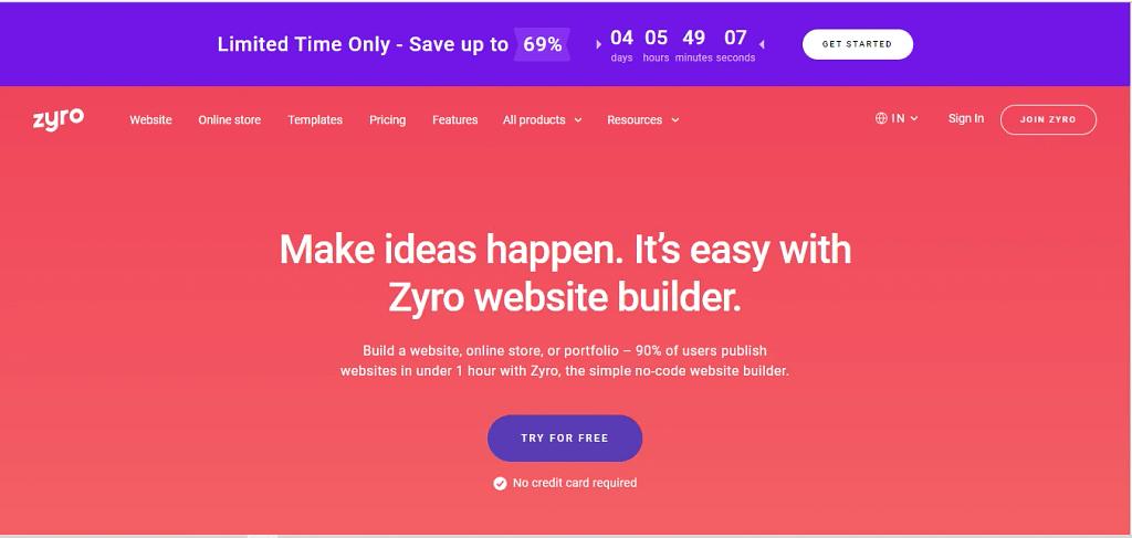 zyroE-Commerce Website Builders
