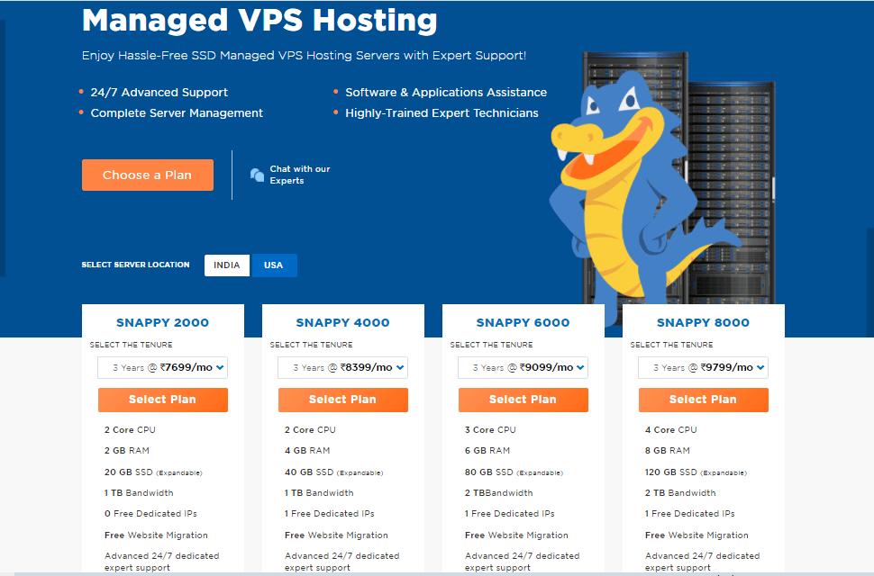 HostGator VPS Managed Hosting